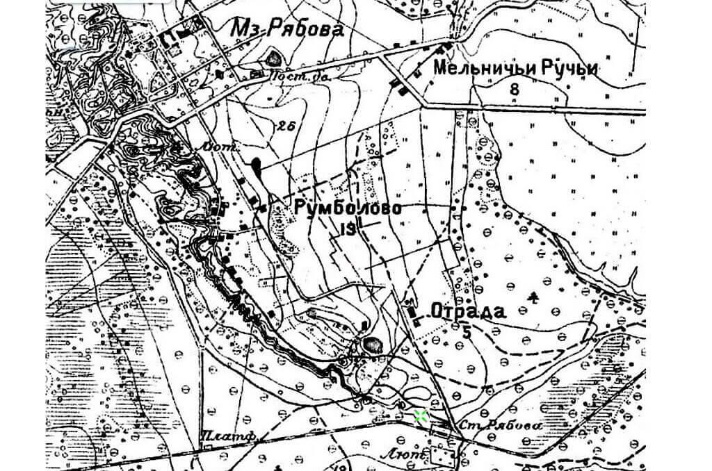 карта 1892 год Рябово.